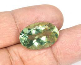 *No Reserve* Green Amethyst 13.63 Cts  Natural Green Amethyst Gemstone