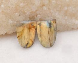 23.5cts Natural Labradorite Earrings Handmade Earrings Gift H1213