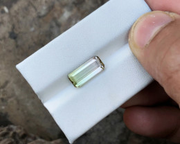3.20 Ct Natural Bi Color Transparent Tourmaline Gemstone