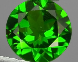 1.20 Cts MARVELOUS RARE ROUND NATURAL TOP GREEN- CHROME DIOPSIDE~