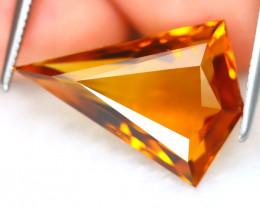 Madeira Citrine 6.31Ct VVS Fancy Cut Natural Orange Citrine B7412