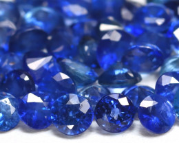 10.49Ct 3.4mm Round Natural Blue Color Sapphire Lot B7541