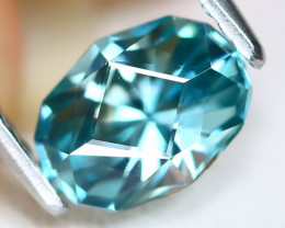Blue Zircon 1.66Ct VVS Master Cut Natural Cambodian Blue Zircon B7618