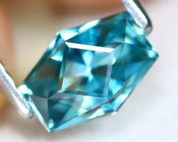 Blue Zircon 1.39Ct VVS Master Cut Natural Cambodian Blue Zircon B7619