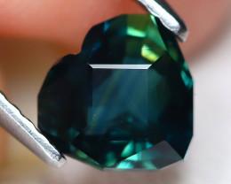 Sapphire 1.34Ct VVS Master Cut Natural Australian Mermaid Sapphire B7628