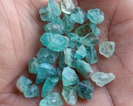 50 Ct Natural Apatite Rough Gemstone Wholesale Parcel VA2454