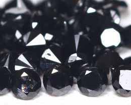 Black Diamond 1.52Ct Natural Round Black Color Diamond Lot B7666