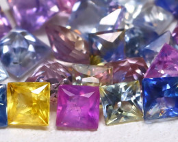3.64Ct Princess Natural Untreated Fancy Color Sapphire Lot B7638