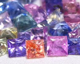 5.15Ct Princess Natural Untreated Fancy Color Sapphire Lot B7642
