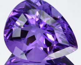 ~CUSTOM CUT~ 42.83 Cts Huge Natural Purple Amethyst Fancy Pear Bolivia