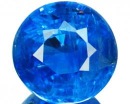 1.35 Cts Natural Royal Blue Kyanite 6.3mm Round Cut Nepal