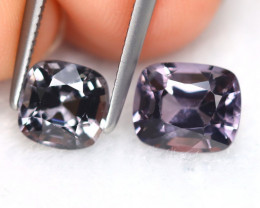 Spinel 2.82Ct 2Pcs Octagon Cut Natural Burmese Fancy Spinel B7655