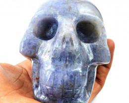 Genuine Big Size 2816 Cts Iolite Hand Carved Skull