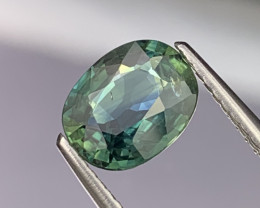 1.83 Cts Certified Fine Quality Greenish Blue Lustrous Sapphire