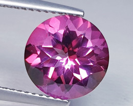 4.12 ct Top Quality Gem Stunning Round Cut Natural Pink Topaz