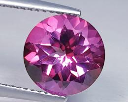 4.11 ct Top Quality Gem Stunning Round Cut Natural Pink Topaz