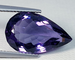 9.19 ct Top Quality Gem  Awesome Pear Cut Natural Amethyst