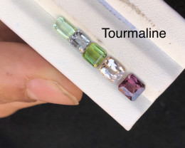 4.40 ct Red Green Tourmaline Parcel Ring size