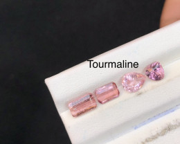 Lovely Baby Pink Color 3.20 ct Attractive Tourmaline Parcel