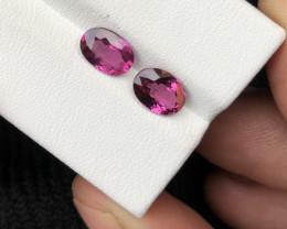 2.55 ct Grape Garnet Pair for Earrings Garnet