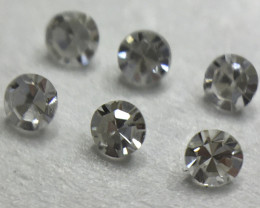 0.06ct 6 x Fancy Grey VS Single Cut Round Diamond