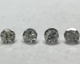0.045ct 4 x Fancy Grey VS Round Diamond