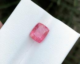 HGTL CERTIFIED 2.45 Ct Natural Orangish Pink Transparent Spinal Gemstone