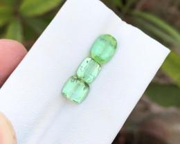 3.90 Ct Natural Green Transparent Tourmaline Gemstones Parcels