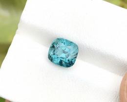 2 Ct Natural Blue Transparent Tourmaline Gemstone