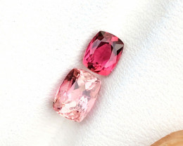 1.45 Ct Natural Red & Pink Transparent Tourmaline Gemstones Parcels