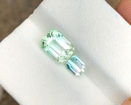 2.20 Ct Natural Bi Color Transparent Tourmaline Gemstones Parcels