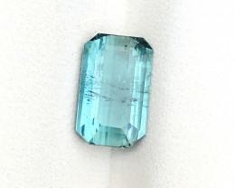 1.75 Ct Natural Blueish Transparent Tourmaline Ring Size Gemstone