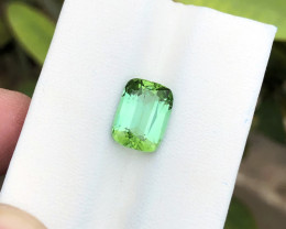 3.40 Ct Natural Greenish Blue Transparent Tourmaline Superb Quality Gemston