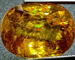 11.72Ct   Glowing Golden Yellow Sphene / Titanite High Dispersion Gemstone