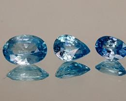 2.95Crt Blue Zircon Natural Gemstones JI111