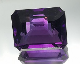 Amethyst, 4.2ct, very intense blueish-dark purple colour, VVS clairity !