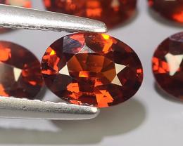 4.90 Cts~Natural Shocking Orange Red Spessartite Garnet Namibia, Amazing!