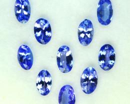 2.10 Cts Natural Purple Blue Tanzanite 5x3mm Oval Cut 10Pcs Tanzania