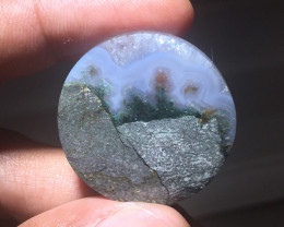 55.45 CT COLLECTOR PIECES MOSS AGATE PICTURE