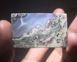 38.90 CT GORGEOUS MOSS AGATE GARDEN PICTURE FROM INDONESIA