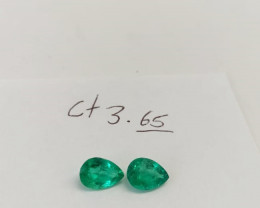 3.65ct  Colombian Emerald Pair