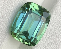 5.30 ct Green Tourmaline From Afghanistan Cushion Cut  T2