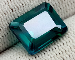 5.25CT GREEN TOPAZ COATED  BEST QUALITY GEMSTONE IIGC10