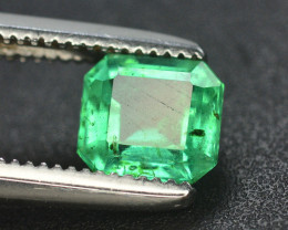 Emerald Superb Color 0.65Ct Natural Emerald From Panjsher Emerald