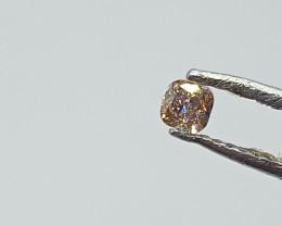 0.11ct Fancy Light  orangish Pink  Diamond , 100% Natural Untreated