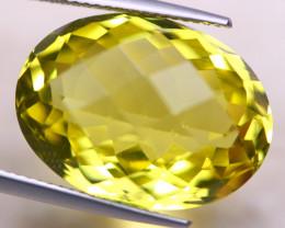 19.10ct Natural Lemon Quartz Oval Cut Lot V8441