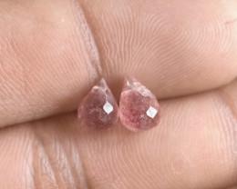 Strawberry Quartz Gemstone Parcel of 2 Pcs Natural Gem VA2528