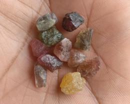 Natural Tourmaline Rough Parcel of 25 Ct Genuine Gemstones VA2526