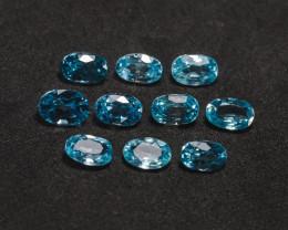 8tcw Blue Cambodian Zircon Parcel
