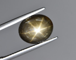 Natural Black Star Sapphire 5.02 Cts, Sharp Rays
